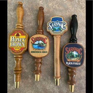 Vintage beer taps - wood - used